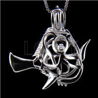 Latest 925 Sterling Silver Surgeonfish  Cage Pendant