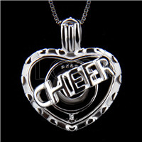 Latest 925 Sterling Silver Cheer Heart Cage Pendant