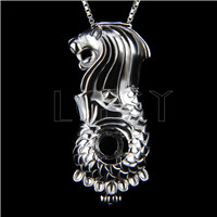 Newest 925 Sterling Silver Merlion Cage Pendant