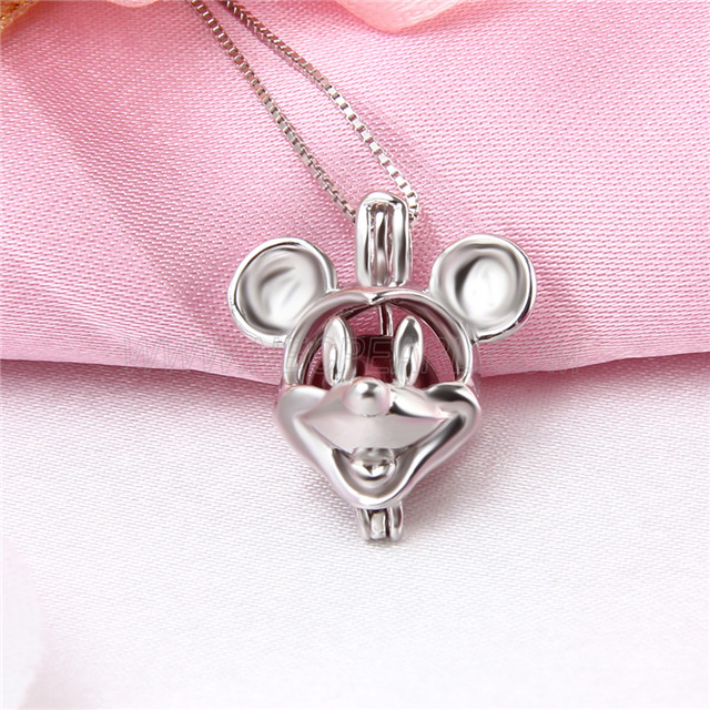 New design 925 Sterling Silver Mouse Cage Pendant