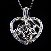 New design 925 Sterling Silver It&#39s a Girl love Cage Pendant