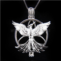 New design 925 Sterling Silver Phoenix Cage Pendant