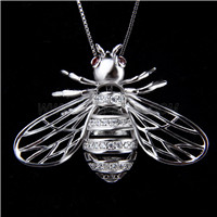 Fashion design 925 Sterling Silver Bee Cage Pendant