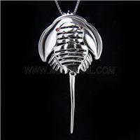 Fashion design 925 Sterling Silver limulus Cage Pendant