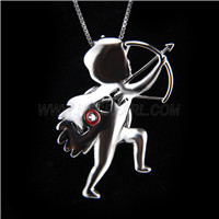 Newest design 925 Sterling Silver Cupid&#39s arrow Cage Pendant