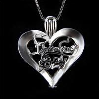 Fashion design 925 Sterling Silver Love Cage Pendant