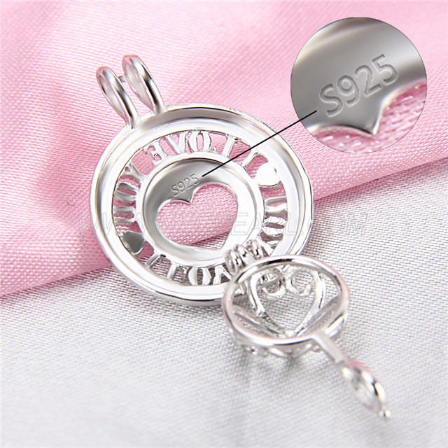 Latest design 925 Sterling Silver Love Cage Pendant