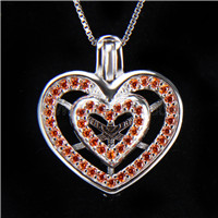 Latest design 925 Sterling Silver Heart Cage Pendant