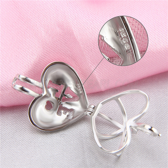 Newest design 925 Sterling Silver Heart Cage Pendant