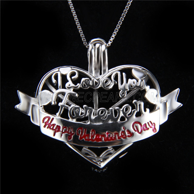 Newest design 925 Sterling Silver Love Cage Pendant