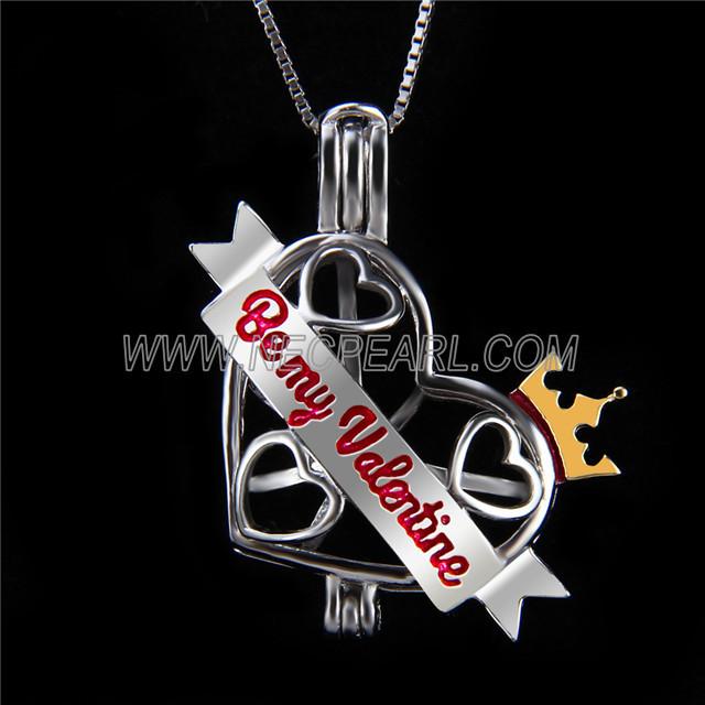 Latest design 925 Sterling Silver Heart Cage Pendant