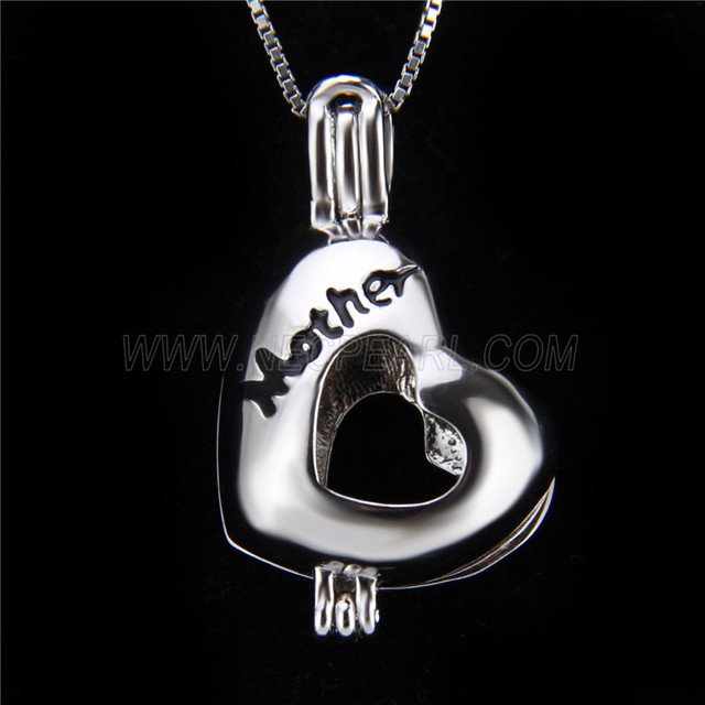 Newest design 925 Sterling Silver Mother Love Cage Pendant