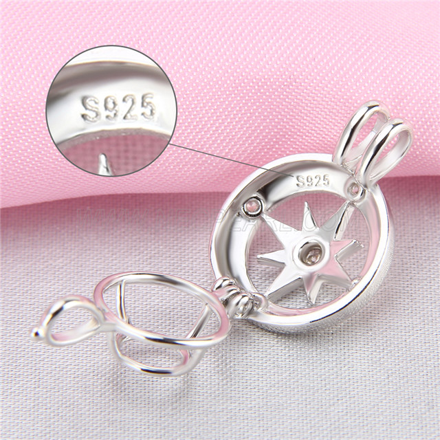 Latest design 925 Sterling Silver Wheel Cage Pendant
