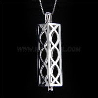 Latest design 925 Sterling Silver long shape Cage Pendant