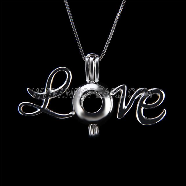 Latest design 925 Sterling Silver Love Cage Pendant
