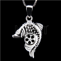 Latest 925 Sterling Silver fish Shape Pendant mounting