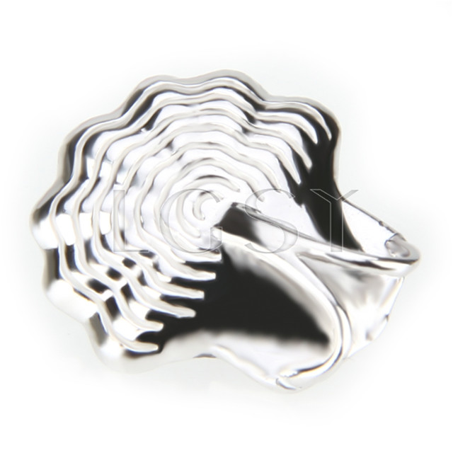 Elegant 925 Sterling Silver Shell Shape Pendant mounting