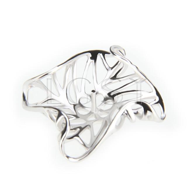 Elegant 925 Sterling Silver Leaf design Shape Pendant mounting
