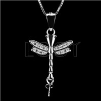 Elegant 925 Sterling Silver Dragonfly Shape Pendant mounting