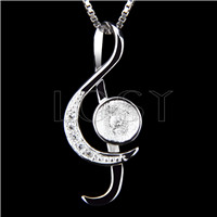 Newest 925 Sterling Silver Music note Pendant fitting