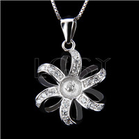 Newest 925 Sterling Silver Flower Pendant fitting