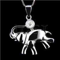 Newest 925 Sterling Silver Elephant shape Pendant fitting