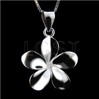 Newest 925 Sterling Silver Peach flower shape Pendant fitting