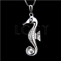 Newest 925 Sterling Silver Seahorse shape Pendant fitting