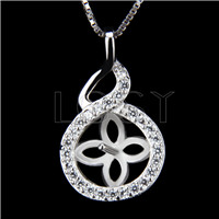 Newest 925 Sterling Silver Twisted flower Pendant fitting