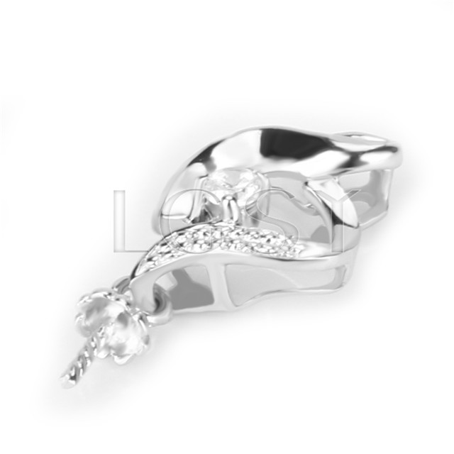 Fashion design 925 Sterling Simple shape Pendant fitting
