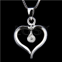 Fashion design 925 Fat heart Pendant fitting