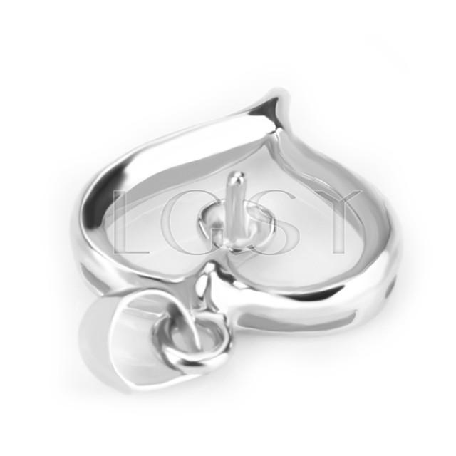 Fashion design 925 Fat heart Pendant fitting