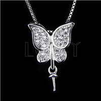 Fashion design 925 Butterfly Pendant fitting
