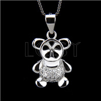 Fashion design 925 Little bear Pendant fitting