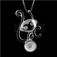 Fashion design 925 Monkey Pendant fitting