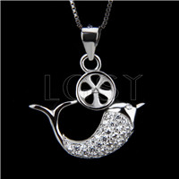 Fashion design 925 Fish Pendant fitting