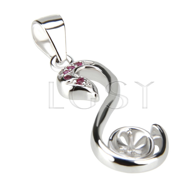 Fashion design 925 Swan Pendant fitting