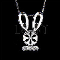 Fashion design 925 Mouse Pendant fitting