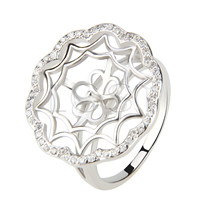 Latest Wholesale flower design 925 Sterling Silver ring mounting
