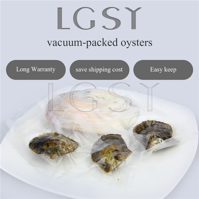 50PCS pearl oysters with AAA Grade 6-7mm Round Akoya pearls