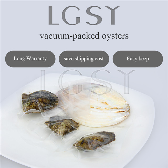 50PCS pearl oysters with AAA Grade 6-7mm Two Oval pearls