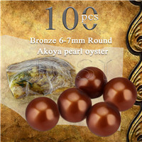 Latest 6-7mm Bronze saltwater round Akoya pearl oyster 100pcs